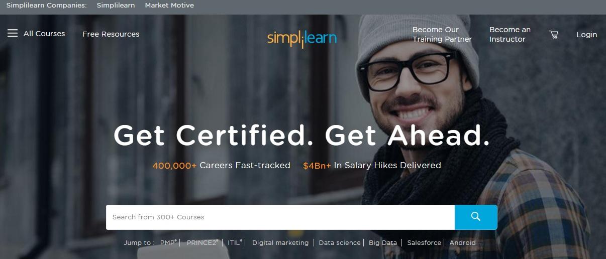 simplilearn homepage