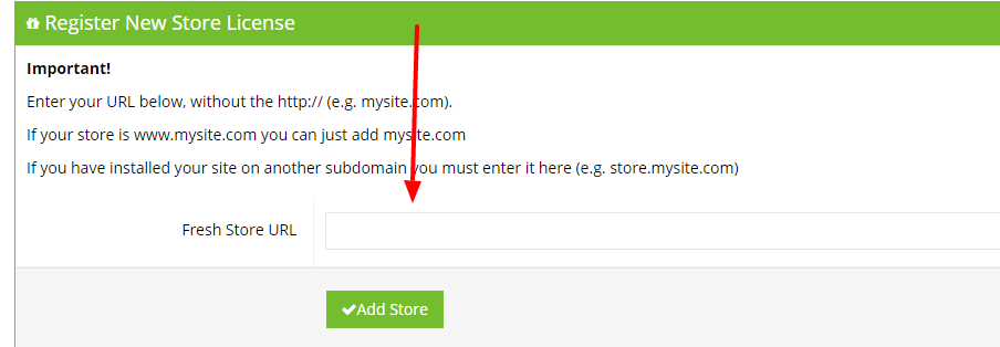 Add Store Fresh Store Builder