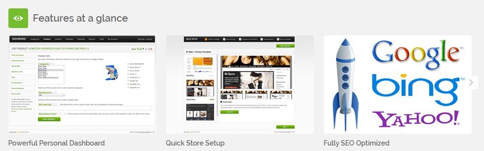 FreshStore features