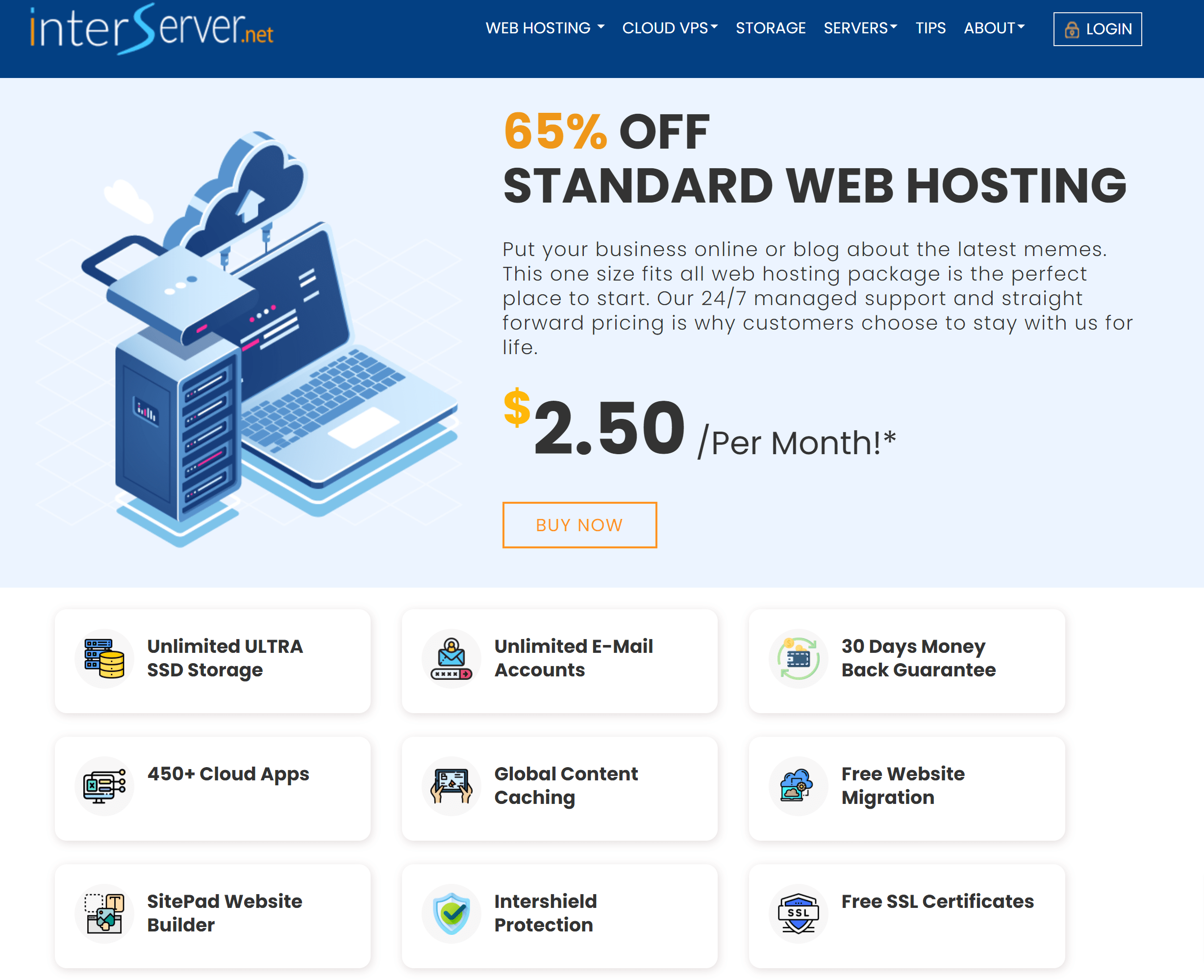 Fast, Reliable Cheap Managed Cloud Web Hosting Service - InterServer