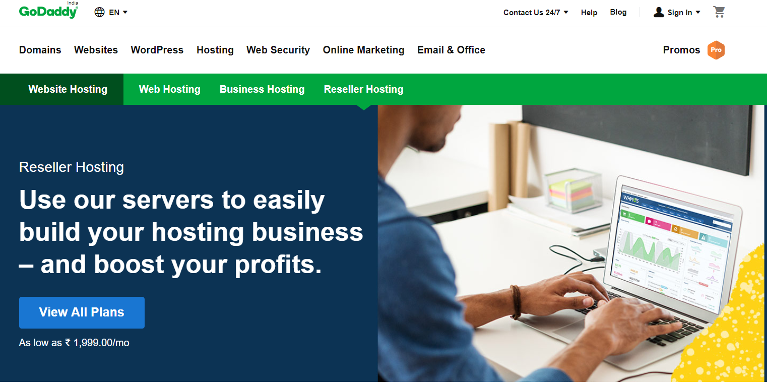 GoDaddy- Best Reseller Hosting In The Market