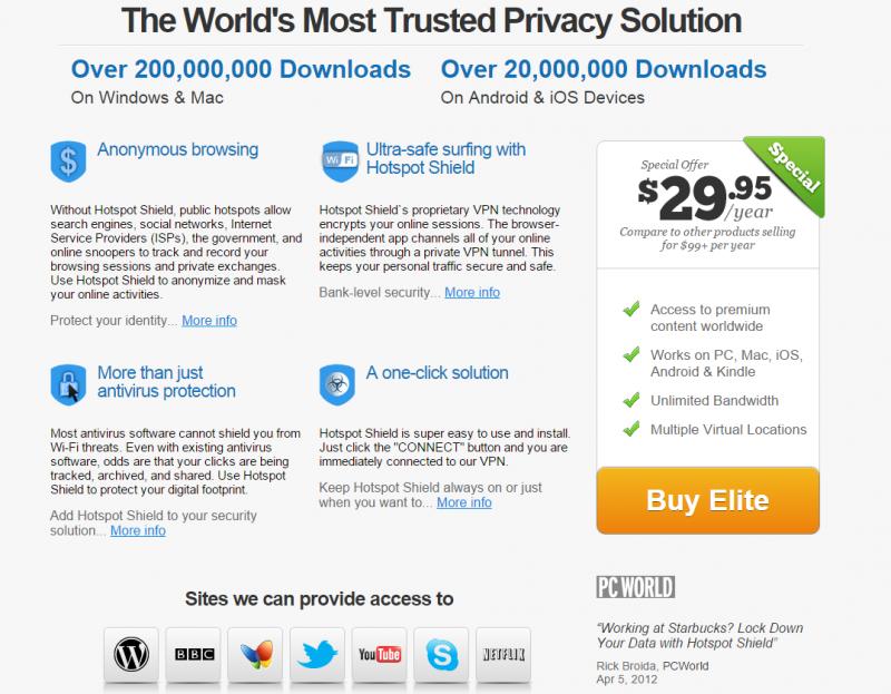 Hotspot Shield Elite VPN Coupon Codes