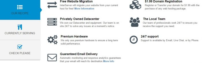 Interserver web hosting features
