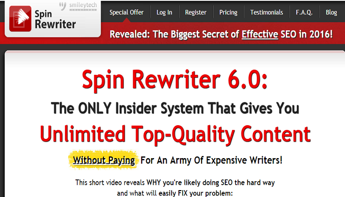 Spin Rewriter 6.0 Scam review legit review