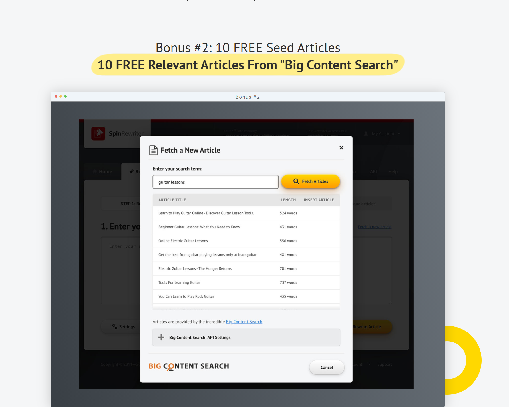 SPin Rewriter bonuses free trial Spin Rewriter new