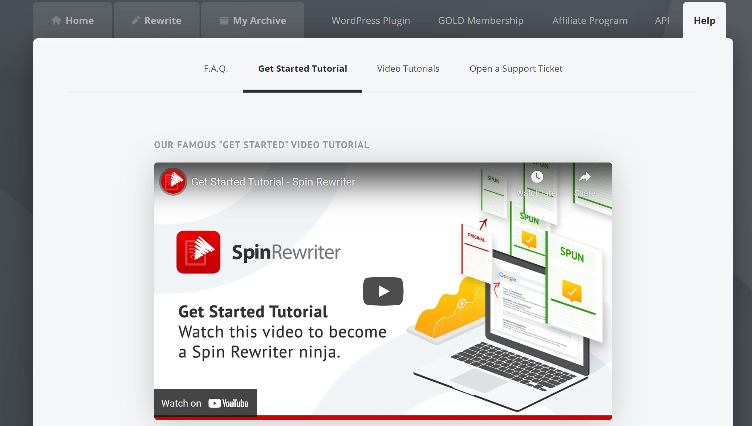 Spin rewriter how to usage tools