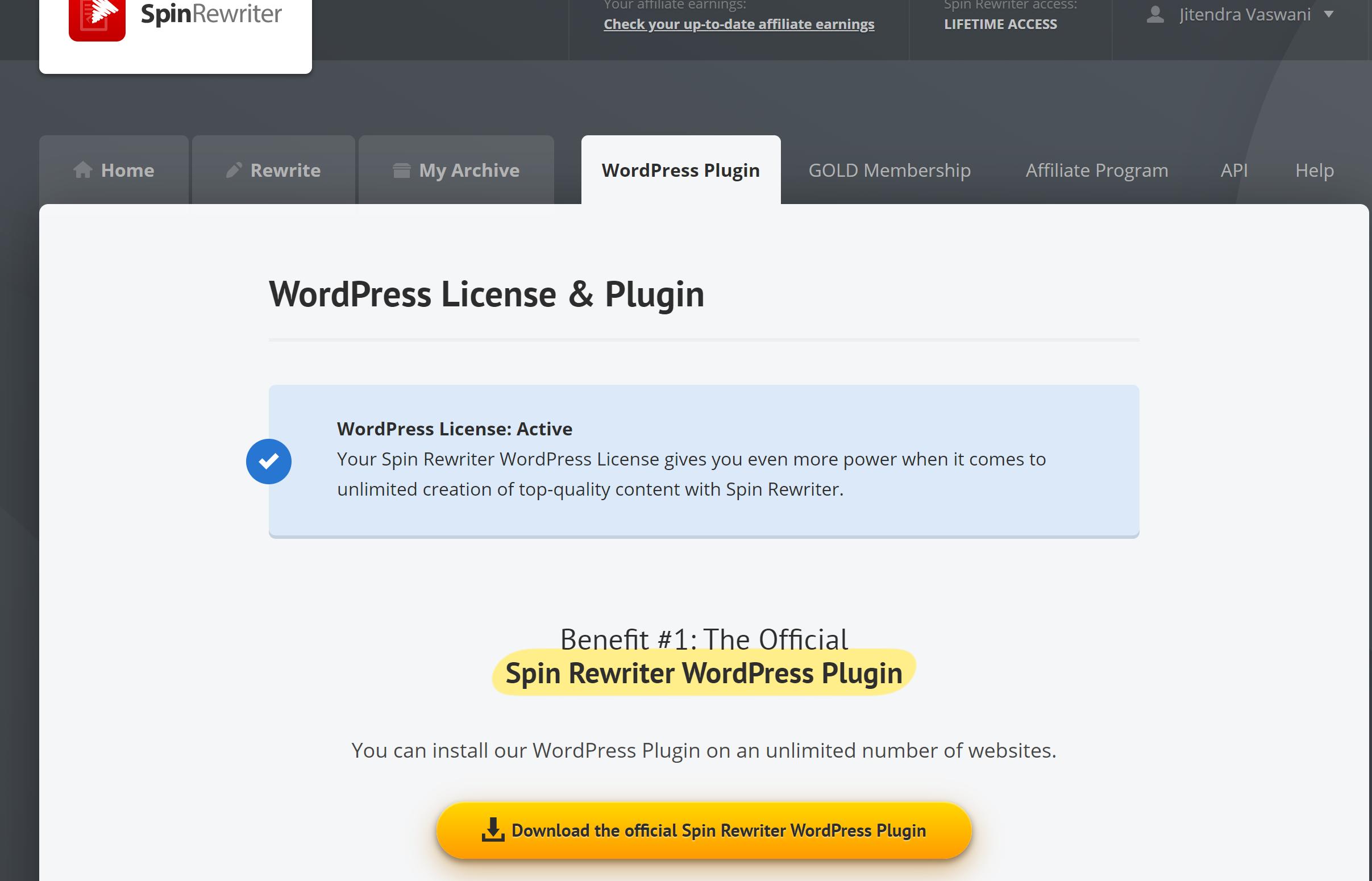 Spin rewriter wordpress plugins