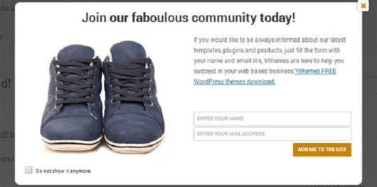 Yith Newsletter Popup