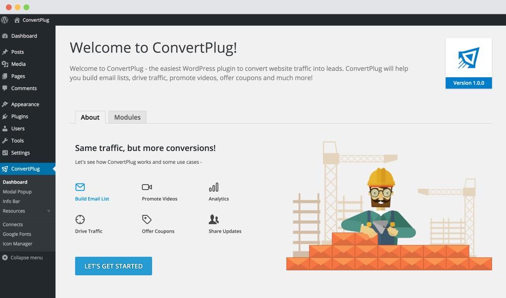 convertplug dashboard
