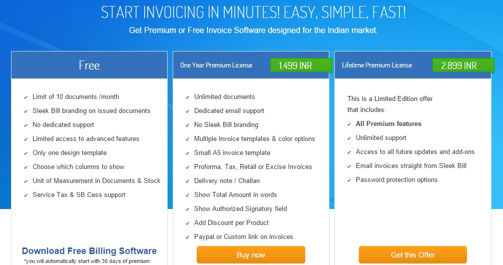 sleek bill review  free invoicing software for small business