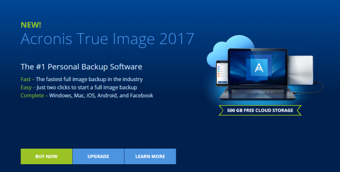 Acronis- Best Cloud Backup For Windows