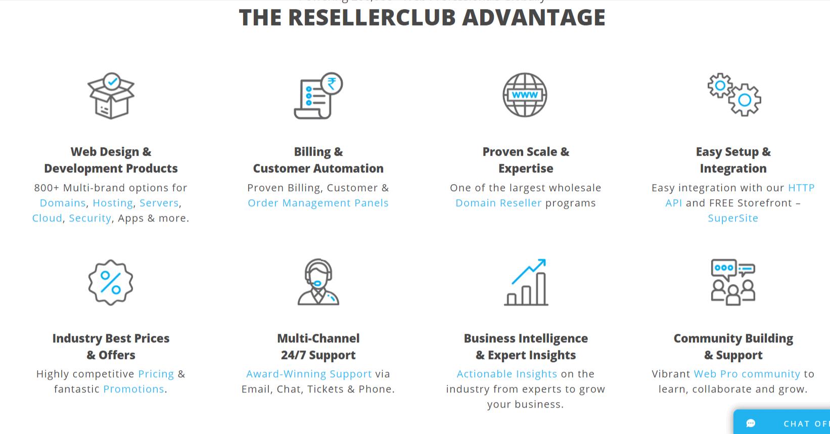 Advantages ResellerClub