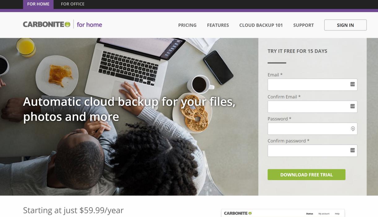 Carbonite Online Backup Cloud Hybrid Server Backup