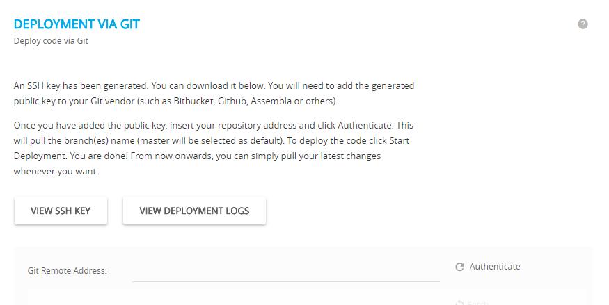 cloudways wordpress hosting- deplyment via git