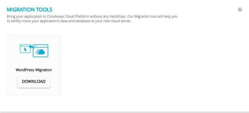 cloudways wordpress hosting- migration tool