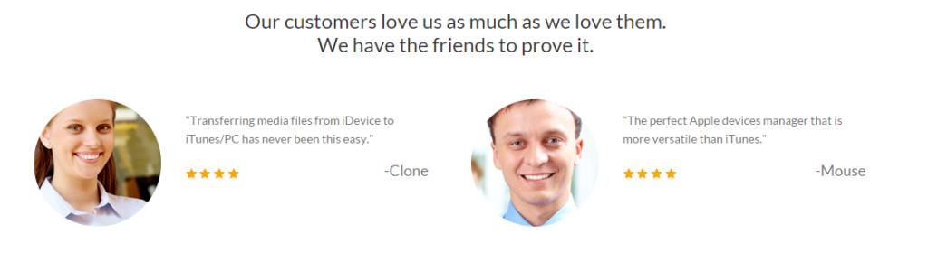 iSkysoft TunesOver for Windows testimonials