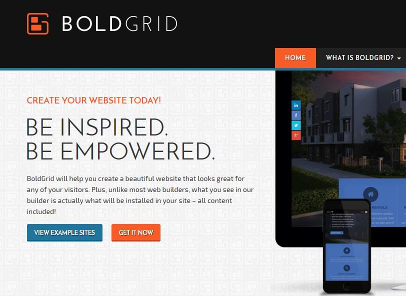 BoldGrid Create a Web Site