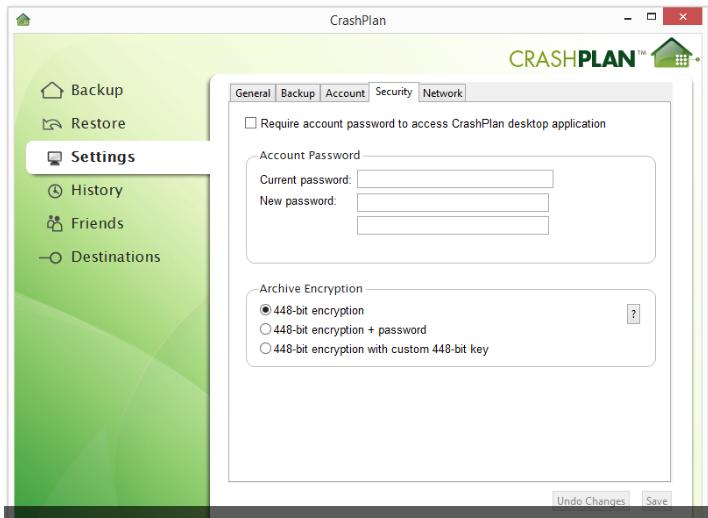 CrashPlan Review Security