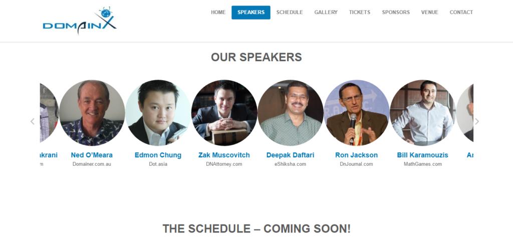 Domainx 2016 speakers