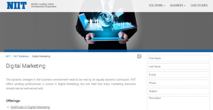 NIIT Digital Marketing - Digital Marketing Courses