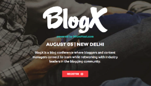 BlogX 2016 Conference New Delhi.