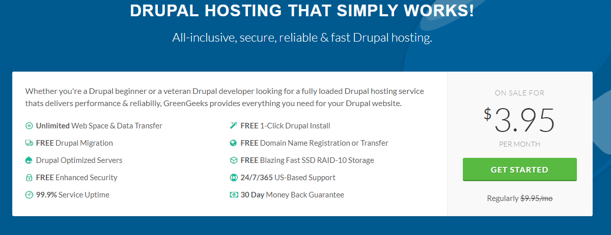 Drupal Hosting by GreenGeeks®