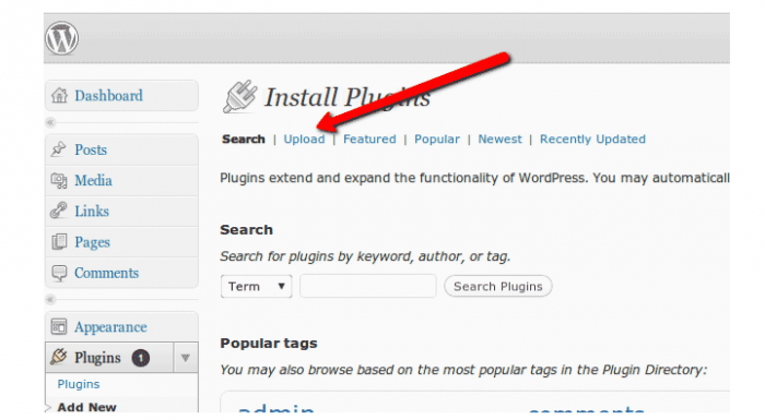 Inspectlet Blog wordpress install
