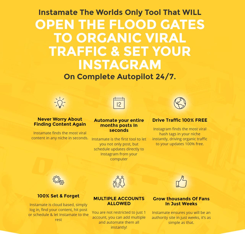 Instamate review instagram monetization software
