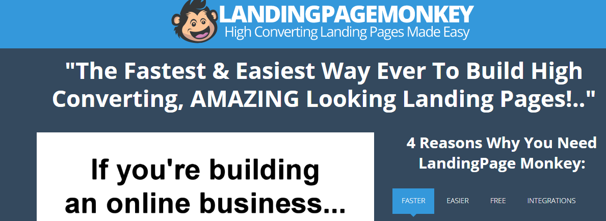 LandingPage Monkey Review Features