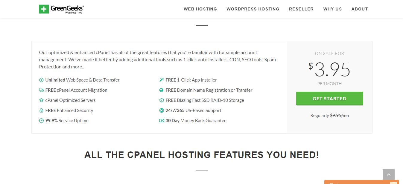 cPanel Hosting by GreenGeeks®