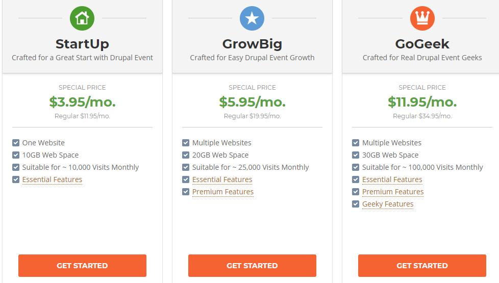 siteground drupal pricing