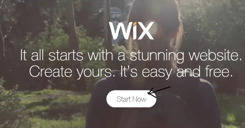 start now wix