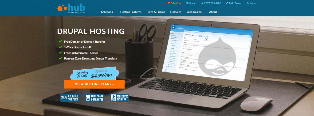 webhosting hub drupal hosting