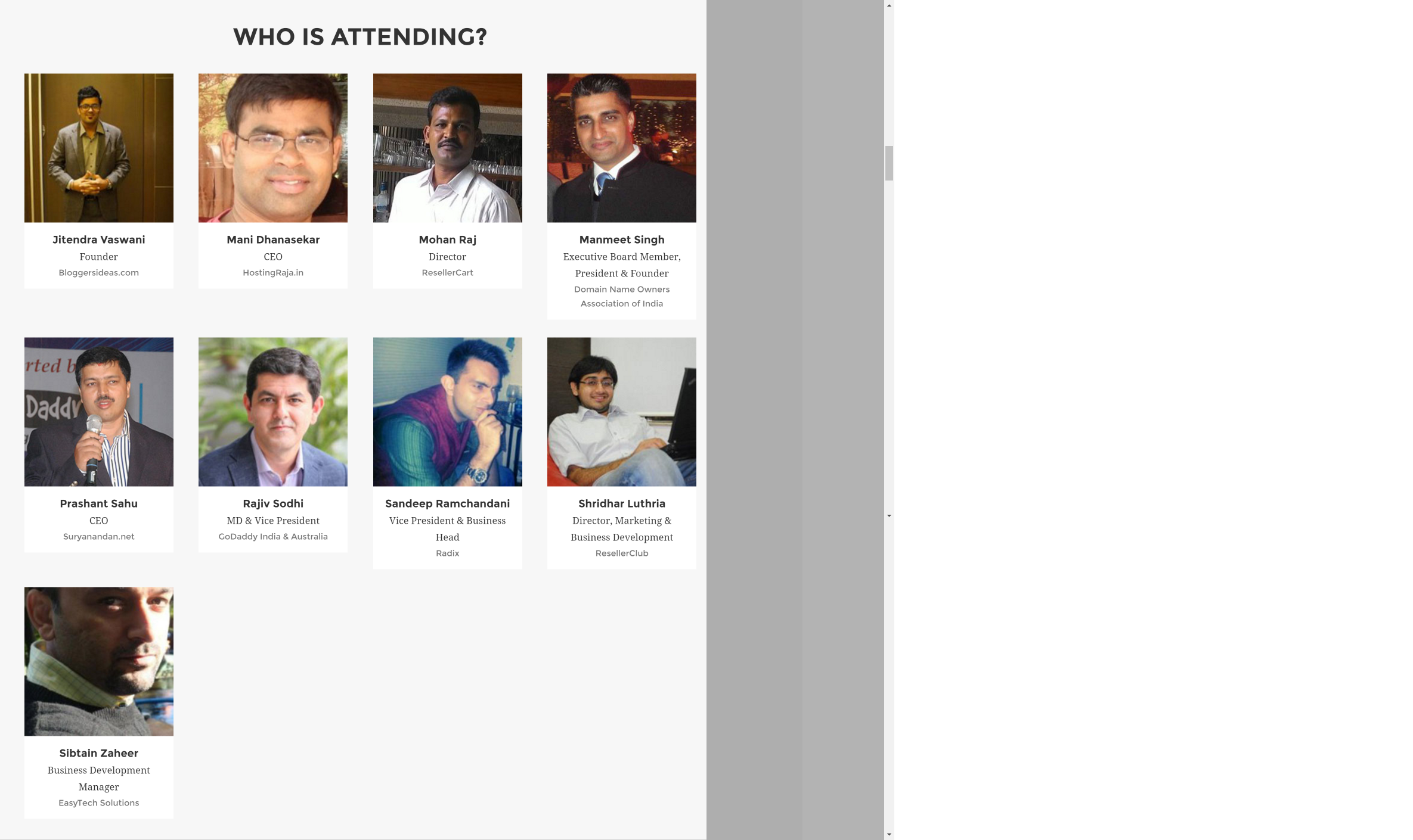 WHD india Attendees