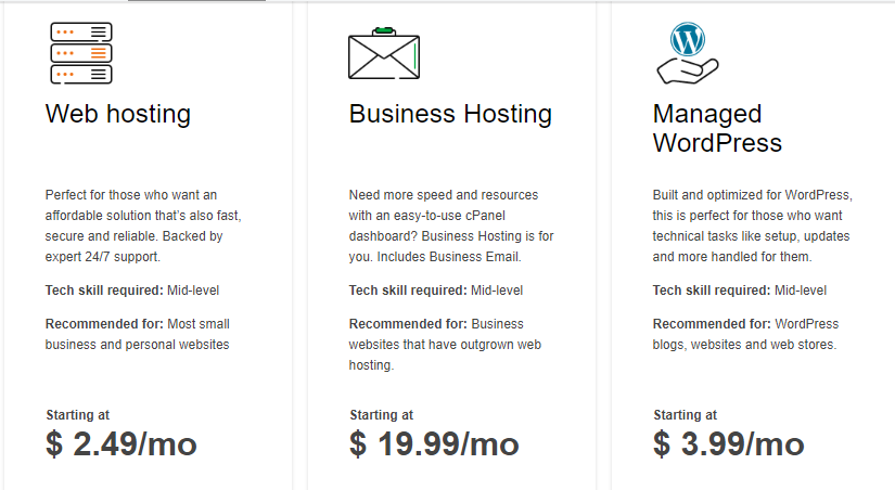 GoDaddy linux hosting