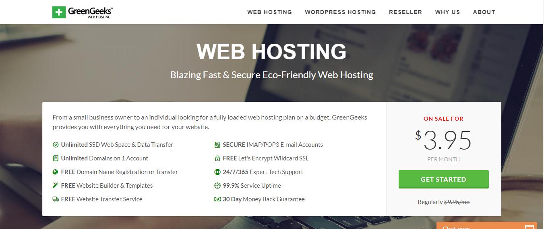 Greengeeks linux web hostinng