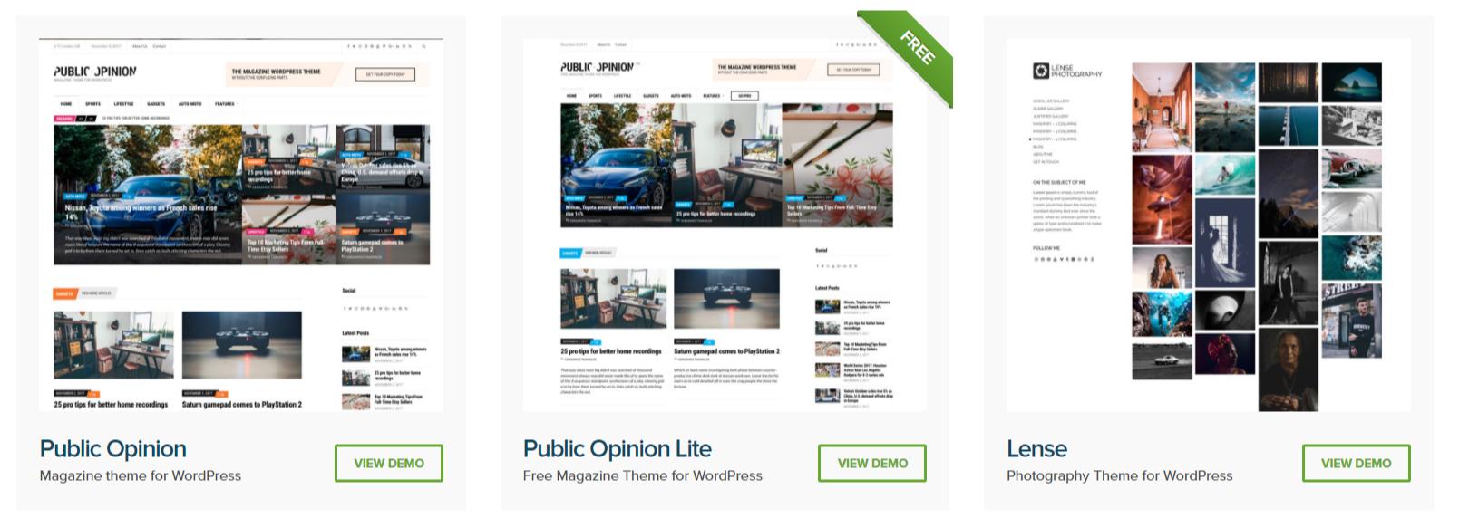 Premium WordPress Themes - CSSIgniter Themes