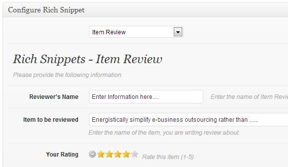all in one rich snippets plugin