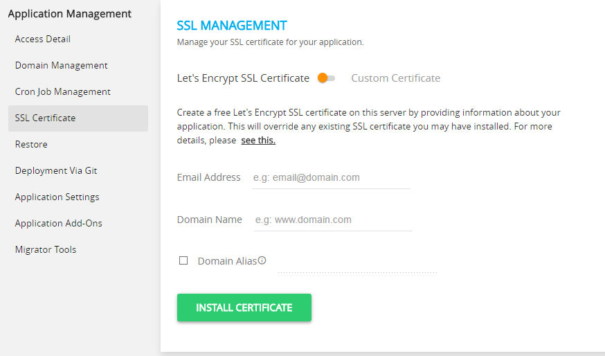 SSL Management