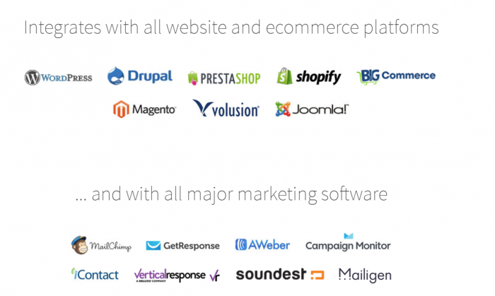 OptiMonk Onsite Retargeting Exit Intent Review features
