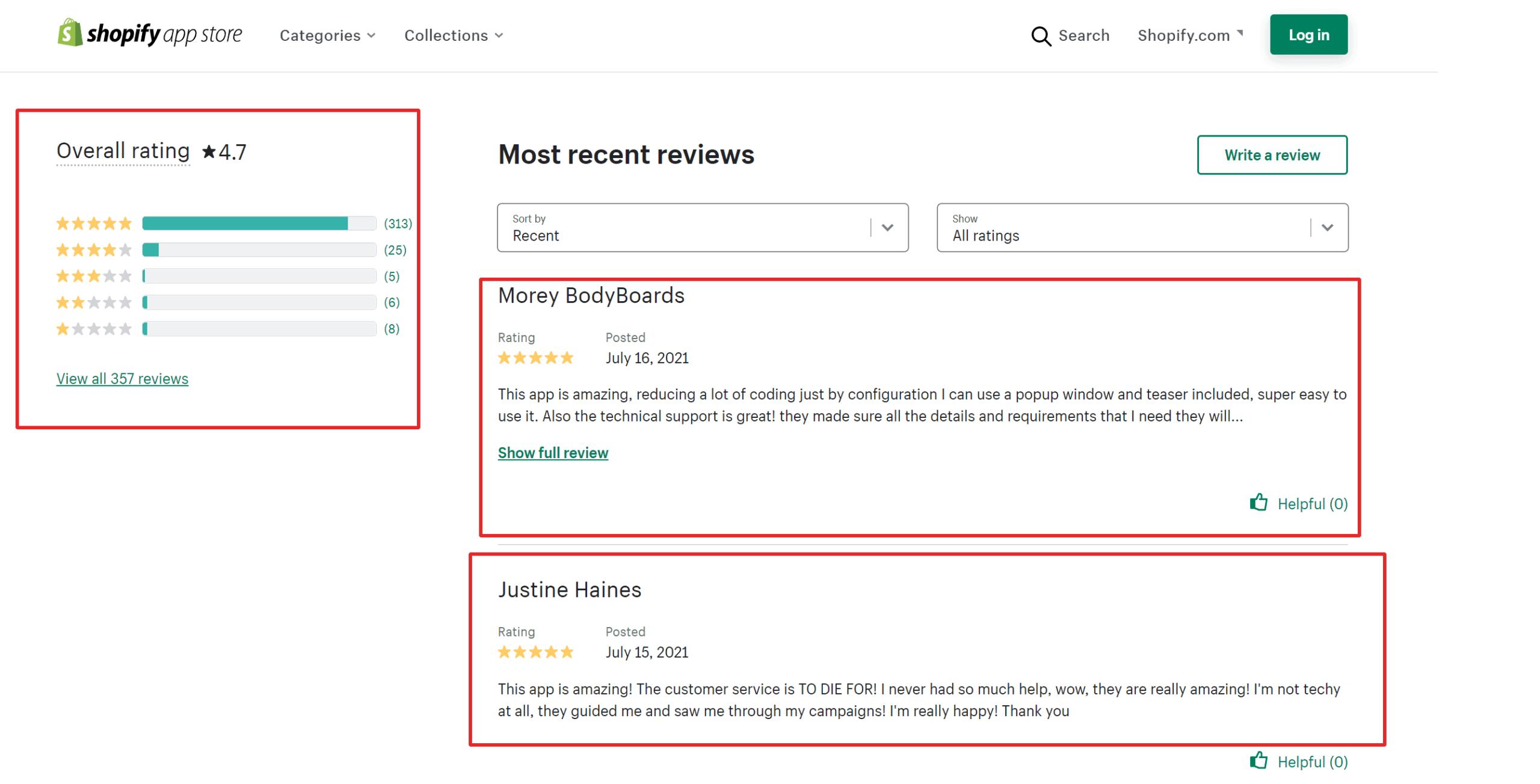 Optimonk Customer testimonials