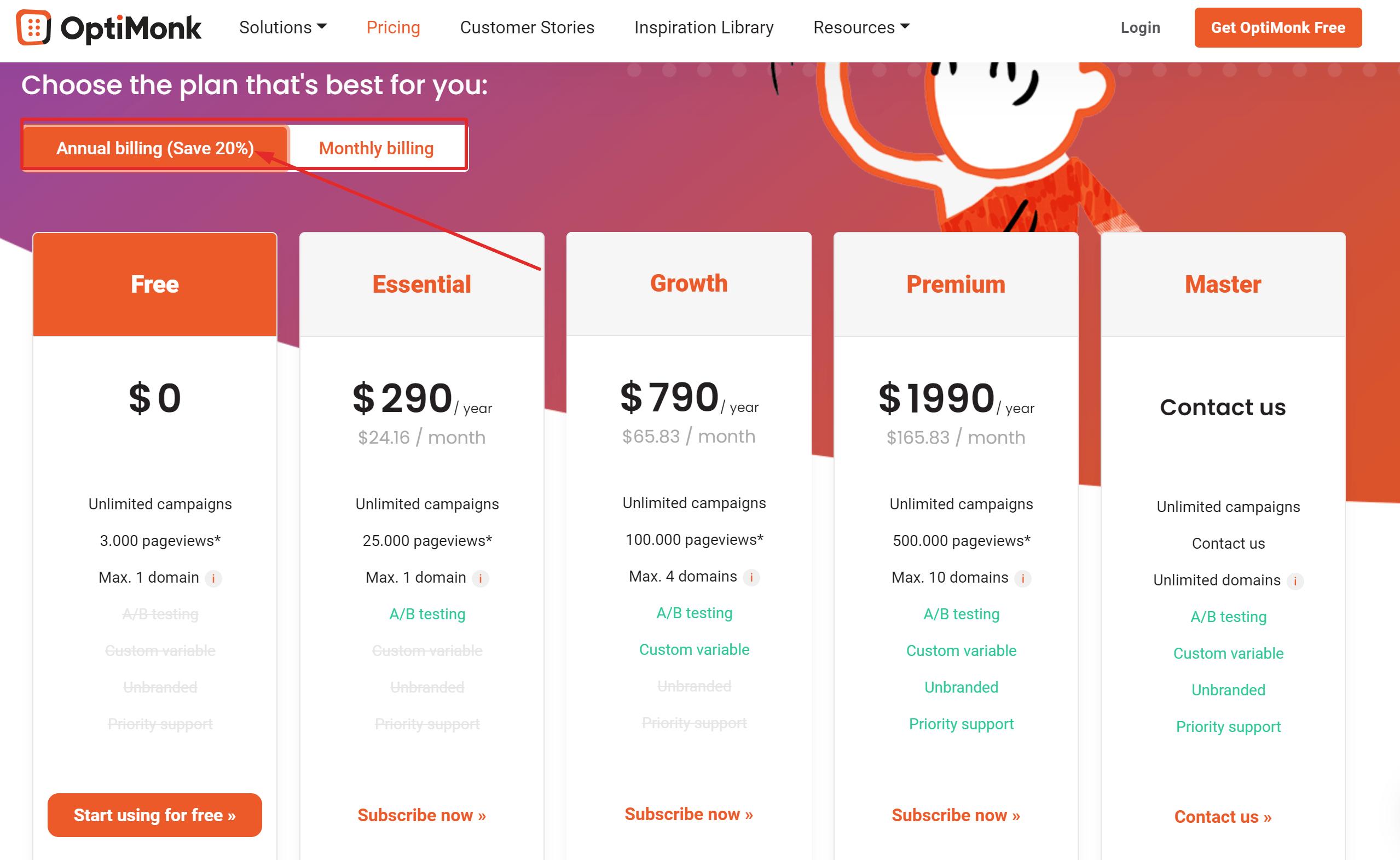 Optimonk coupon code