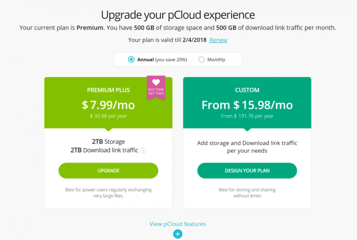 pCloud Pricing Cloud Storage Pricing Cost Cloud Storage Plans