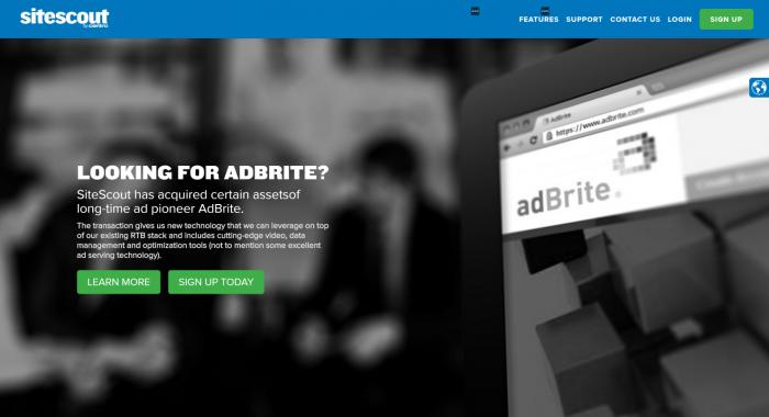 Adbrite sitescout
