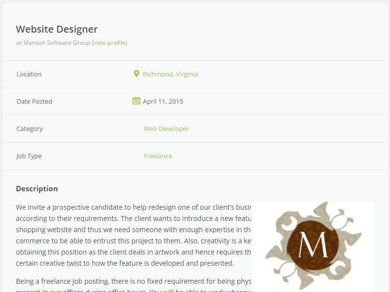 WPJobBoard website designer