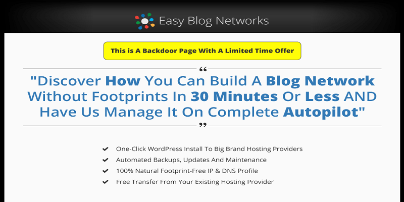 Easy blog network review features