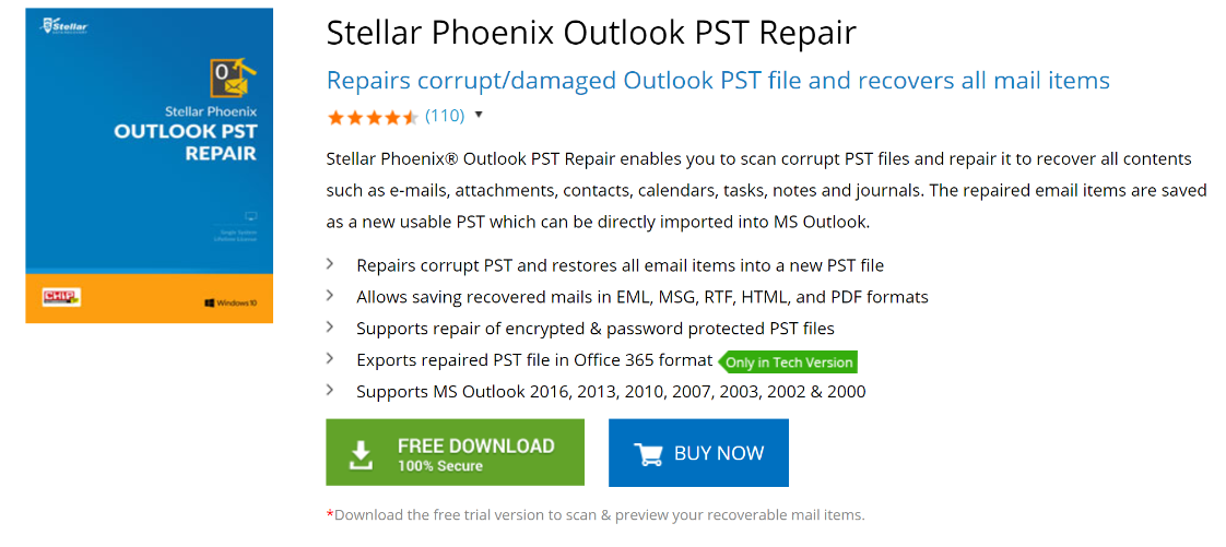 Stellar Phoenix Outlook PST Repair Review