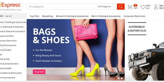 popular drop shipping suppliers- aliexpress