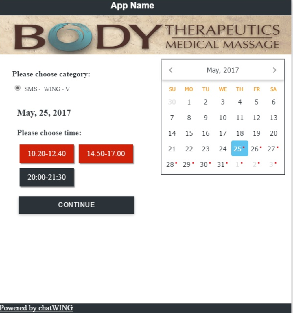 Booking and Schedule Features