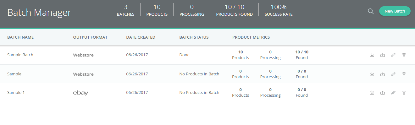 Sigmento Review - Batch Management